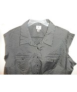 Cute Worthington Woman Stretch blouse Top size 3X button front pockets ... - $9.89