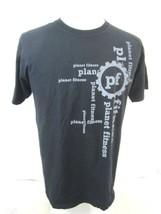 PLANET FITNESS T Shirt gym size large black gray men women cotton workout adult - $7.00