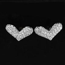 Heart Beats  The Pave Heart Earrings - $24.07