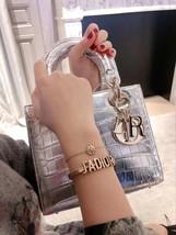 AUTH Christian Dior 2019 J'ADIOR AGED GOLD BRACELET CUFF BANGLE image 12