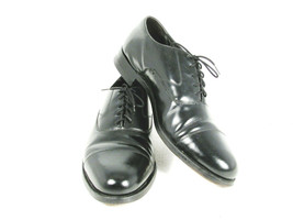 Florsheim Oxford Lace Up Cap Toe Men's Dress Shoes Black Leather 10 D - $37.61
