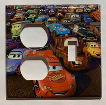 Cars Lightning McQueen Light Switch Power Outlet wall Cover Plate Home Decor image 5
