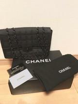 Auth CHANEL Shoulder Bag Black Medium Matelasse New Travel Flap Logo B3222 - $1,120.68