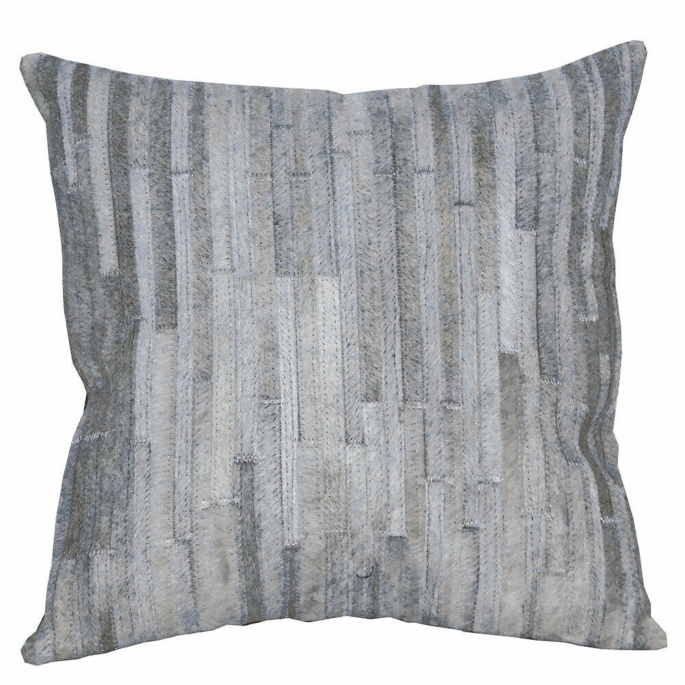 U-L512 PL512-F COWHIDE LEATHER HAIR-ON PATCHWORK CUSHION PILLOW COVER image 2