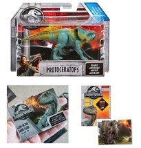 Jurassic World Protoceratops Dinosaur Figure and One Premium Trading Card - $15.99