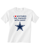 Dallas Cowboys I Love Watching With Grandma Red Heart Toddler T-Shirt