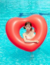 "Big Heart Inflatable Pool Raft Ride On Floats Swim Tube for Adults 47.2"" 120cm image 3"