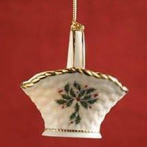 Lenox Holiday Basket Christmas Tree Ornament - $36.00
