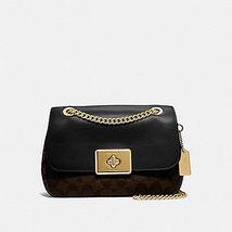 COACH Snake Signature Leather Cassidy Crossbody Bag Purse F48620 BLACK B... - £124.31 GBP
