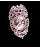 Vintage Fire Department Badge - Cornwells Fire Company - member pin - Fi... - $35.00