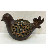 """Bird Candle Holder Tea Light Votive Cup Resin Bronze Color 5"""" Tall Distressed - $16.82"""