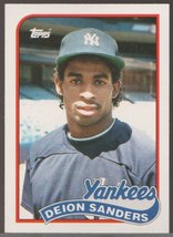 Deion Sanders Traded #110T 1989 Topps Card Is Fresh From Set - $3.50