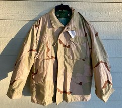 NWT USGI COAT COLD WEATHER FIELD DESERT CAMO M-65 JACKET W/LINER - LARGE... - $143.55