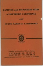 1950s Southern California Camping Picnic Guide Outdoors CA State Parks  - $10.00