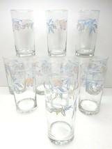"11 Corelle Pink Trio VTG Corning 6"" Tall Crisa Pastel Flower 16 Oz Glass... - $76.10"
