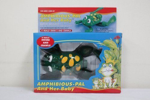 TOY SWIMMING CRAWLING FROG BABY BATH WATER