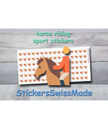 horse riding   planner stickers   sport   for planner and bullet journal - $3.00+
