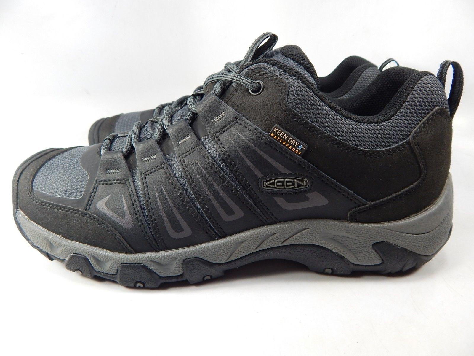 Keen Oakridge Size US 11 M (D) EU 44.5 Men's WP Trail Hiking Shoes Gray 1015313