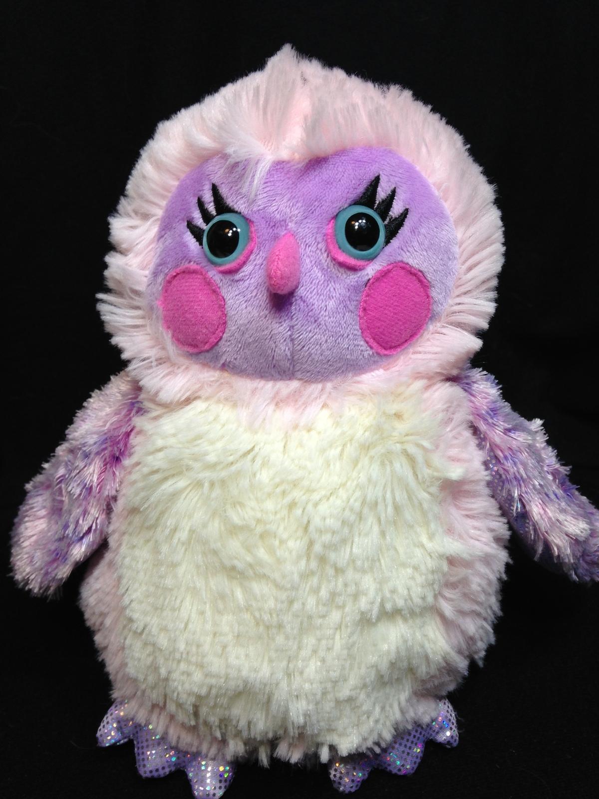 Ganz webkinz whooo la la owl pink plush iridescent soft toy hm752  no code 8   1