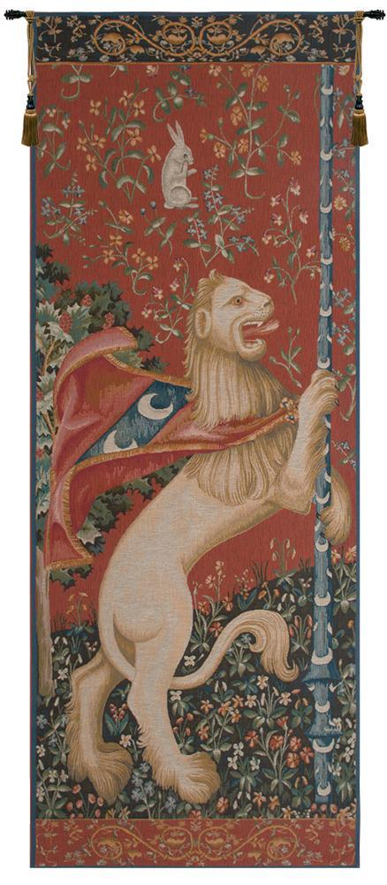 Portiere Lion  European Tapestry Wall Hanging