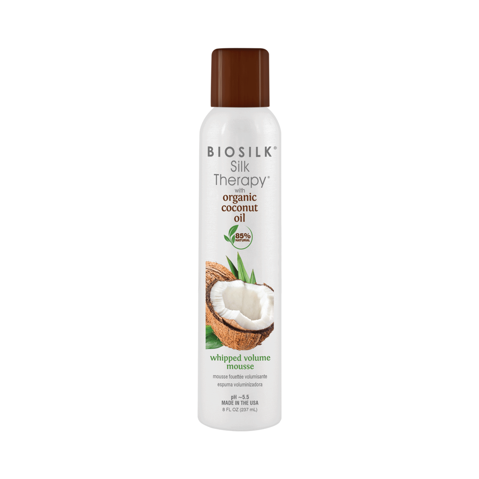 Farouk Biosilk Silk Therapy with Coconut Oil Whipped Volume Mousse, 8oz