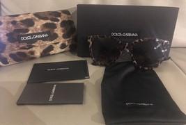 NIB Dolce & Gabanna Women's Lace Retro Acetate Frame Sunglasses Leopard ... - $107.53