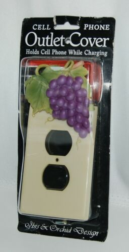 Ibis Orchid Design 33010 Cell Phone Charger Outlet Cover Purple Grapes