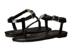 Ralph Lauren Girls' Toddler Sueanne Leather T-Strap Sandal,Black, US 13,EUR 30.5 - $29.69