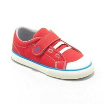 See Kai Run Basic Red Canvas Hook And Loop Toddler Boys Sneakers Sz 11 NWT