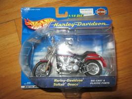 10R/HARLEY DAVIDSON MOTORCYCLE TOY/MATTEL/SOFTAIL DEUCE/1:18/SEALED! - $19.75