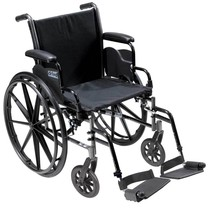 Drive Medical Cruiser III With Desk Arms and Footrests 20'' - $184.15