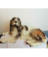 Vintage Spaniel Figurine Laying Hand Painted USA - $39.00