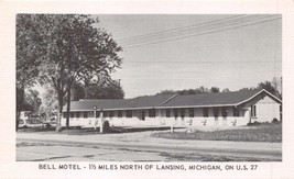 LANSING MICHIGAN BELL MOTEL~NORTH ON US ROUTE 27~POSTCARD - $7.33