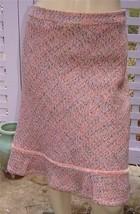 GAP Woven Coral Pink/Beige Tweed Lined Wool Blend Trumpet Skirt (8) NEW - $19.50