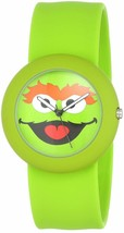 NEW Sesame Street Oscar the Grouch Silicone Green Slap Watch by Viva Time