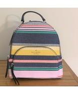 Kate Spade Jackson Medium Backpack ~ Boardwalk Stripe Bag Handbag ~ New/NWT - $164.95
