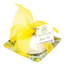 Michel Design Works Lemon Basil Glass Soap Dish & Set Bow Tie - $16.50