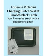 Adrienne Vittadini Charging Clutch Wallet Black Lamb Smooth  - $30.00
