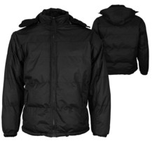Men's Heavyweight Insulated Lined Jacket with Removable Hood w/Defect
