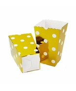 Birthday Party Supplies Set of 12 Popcorn Paper Buckets Lovely Paper Box... - $17.83