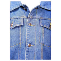 Junior Kids Boy's Premium Button Up Denim Fur Lined Trucker Sherpa Jean Jacket image 6