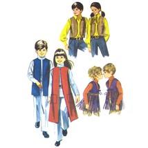 70s Vtg Simplicity Sewing Pattern 9135 Childrens Boys Girls Unisex Vest ... - $8.95