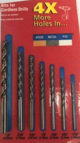 Primary image for Vermont American 7pc Drill Bit Set