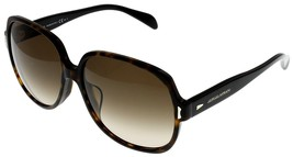 Giorgio Armani Sunglasses Women GA844 KVX Dark Havana Black Square - $177.21