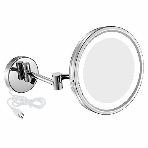 Primary image for Nicesail LED Lighted Wall Mount Mirror 8.5-Inch with 7X Magnification, Swivel Mo