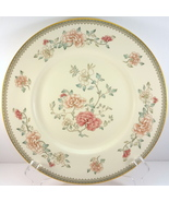 "Minton Jasmine Dinner Plate 10-5/8"" Ivory Bone China Pink Floral - $41.58"