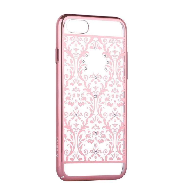 Devia Crystal Baroque Case  for iPhone 7 with Swarovski crystals pink gold