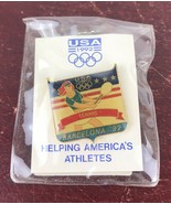 Vintage Olympic Pin Vintage 1992 Barcelona, Spain Tennis USA Team. - $14.03