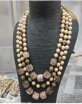 Bollywood Indian Bridal Long Haram Necklace Jewelry CZ Raani Haar Pearl ... - $75.99