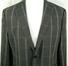 Joseph Abboud Mens Sport Coat Size XXL 2XL Gray Plaid Linen Cotton Blend - $44.50